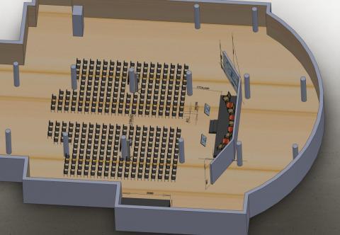 Визуализация размещения оборудования на мероприятии Киев, Украина