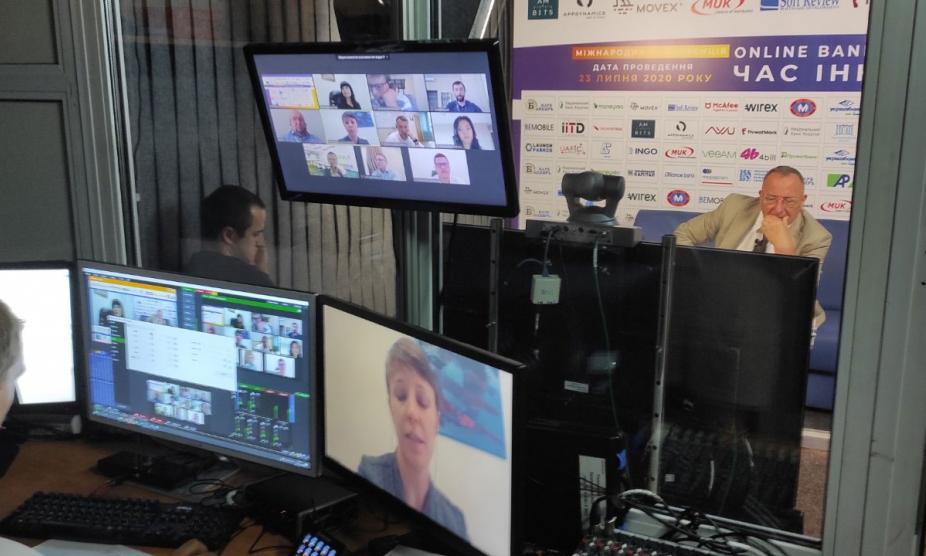 Оборудование для видеоконференции для Международного финансового клуба Банкиръ, услуга или аренда. Киев, Украина. Компания Эквиптайм